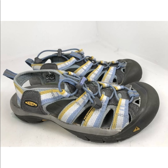 Keen Shoes - Keen Newport H2 sport sandals blue yellow 6.5